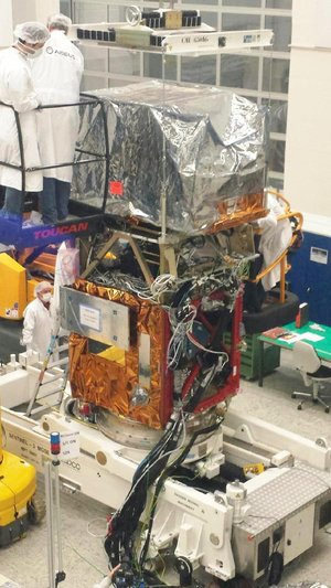 Sentinel-2A satellite in the cleanroom