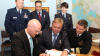 [10/11] Signing the ceremonial book at the Gagarin museum