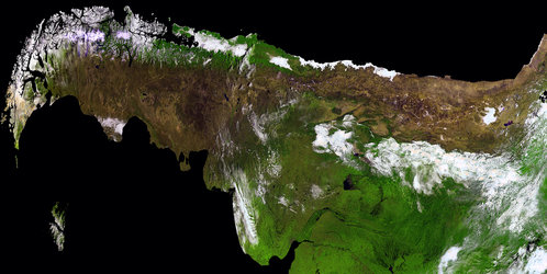 South America and the Andes mountains