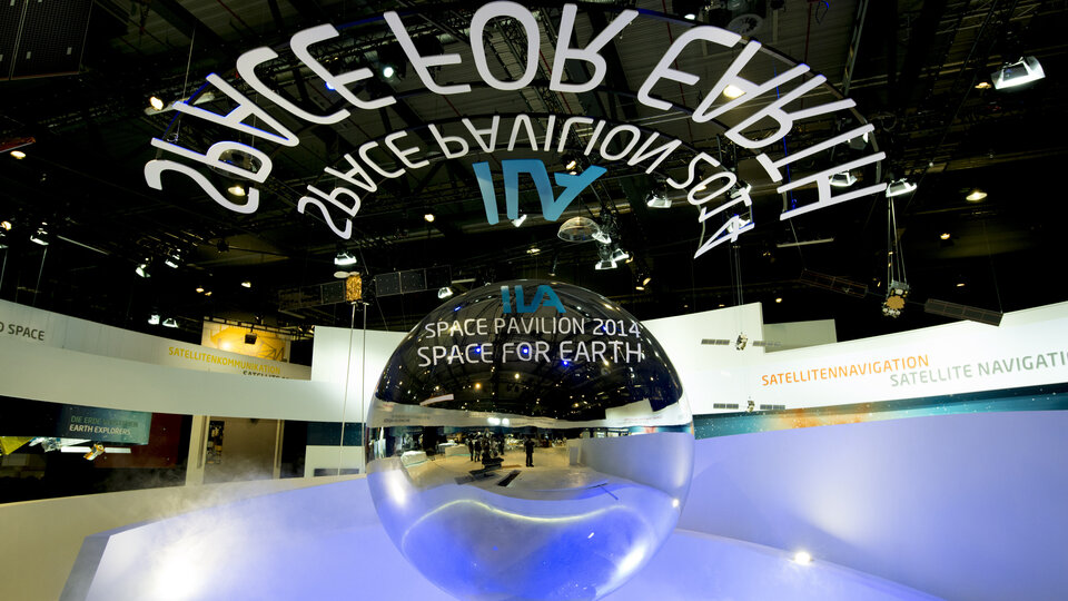 'Space for Earth' space pavilion at ILA 2014