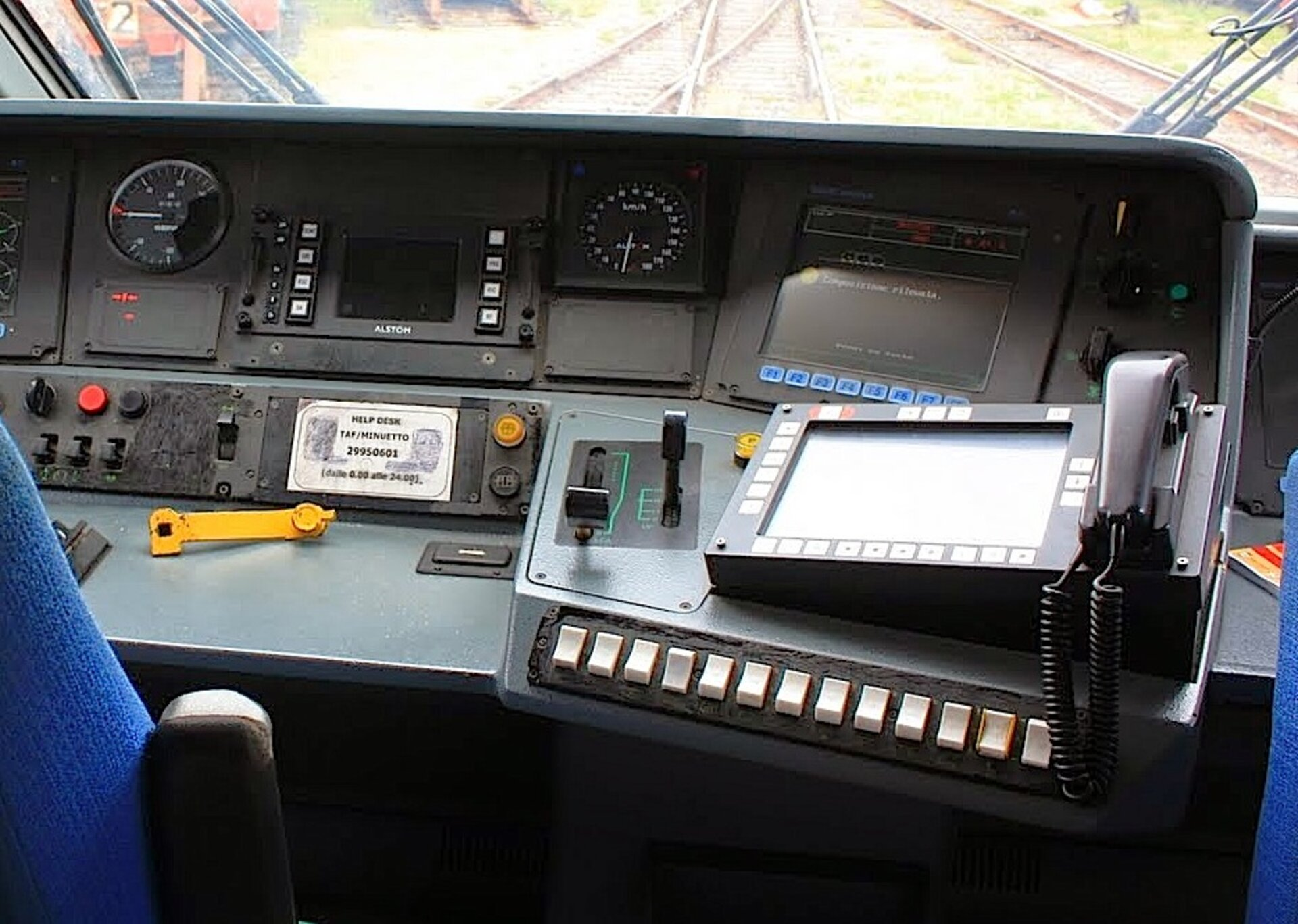 Train driver receives information via satellite