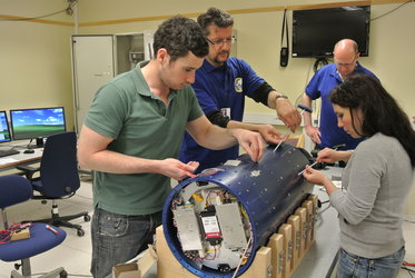 The REXUS 16 experiment payload  is being assembled
