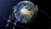 Start des ersten Laser-Relais für die neue satellitengestützte Datenautobahn