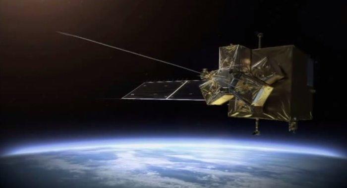 Lanzando un arpón en el espacio