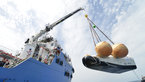 [11/15] IXV prototype hoisted onto ship