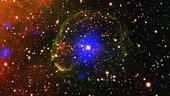 Pulsar encased in supernova bubble