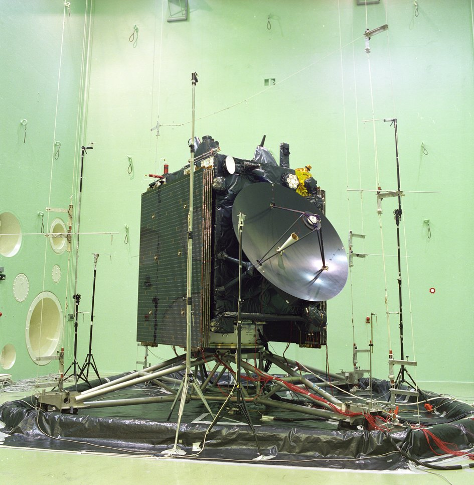 Rosetta in acoustic test chamber