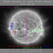 Ground controllers flying Venus Express are receiving daily reports on solar activity issued by ESA's Space Weather Coordination Centre SSCC, Space Pole, Belgium