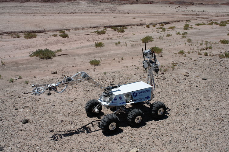 The Hyperion II rover - winner of the URC 2014.