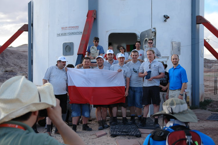 Winners of the URC 2014 - the Polish team Hyperion.