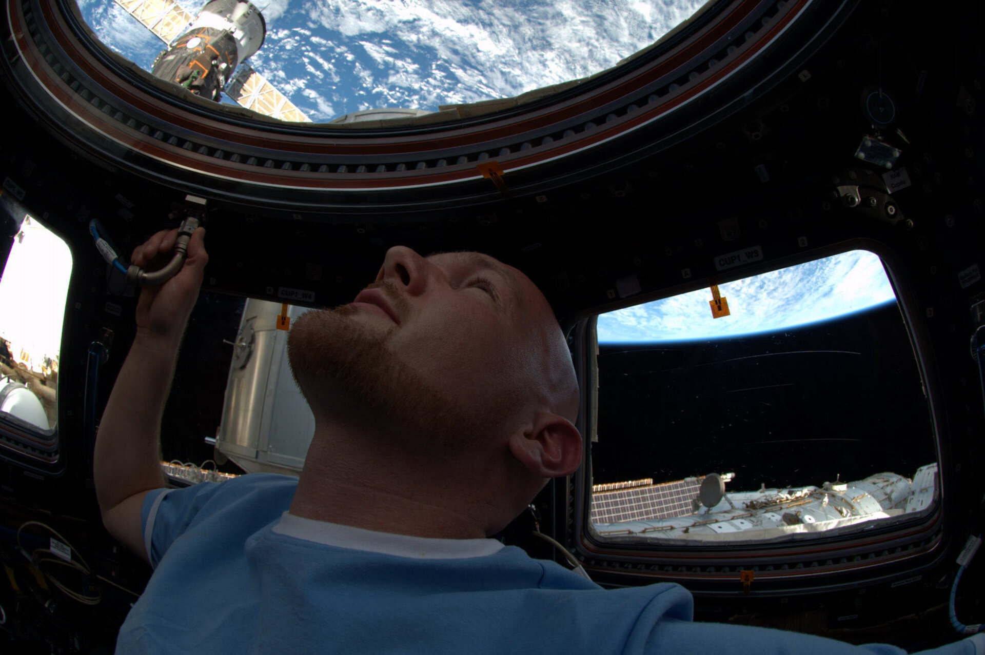 Alexander Gerst in the cupola