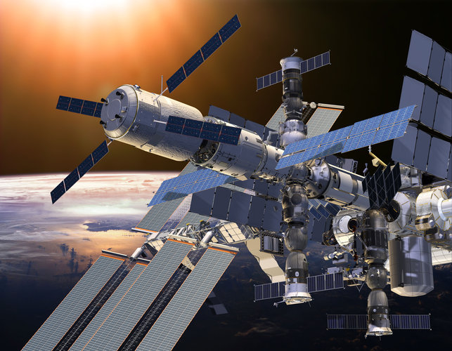 Artist's impression showing ATV-5 docked with ISS