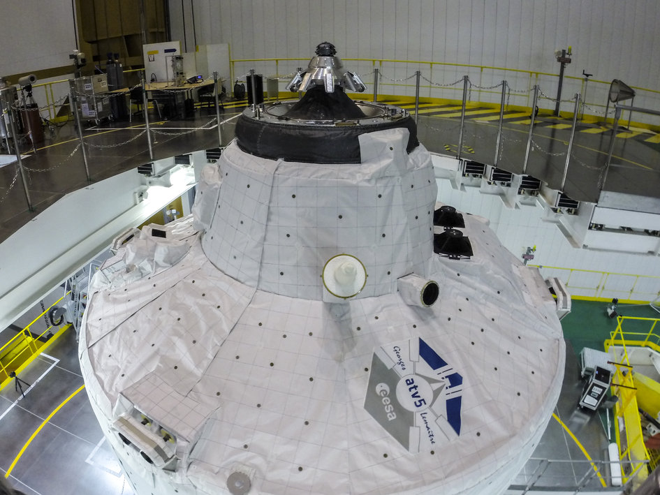 ATV-5 on Ariane 5 before encapsulation