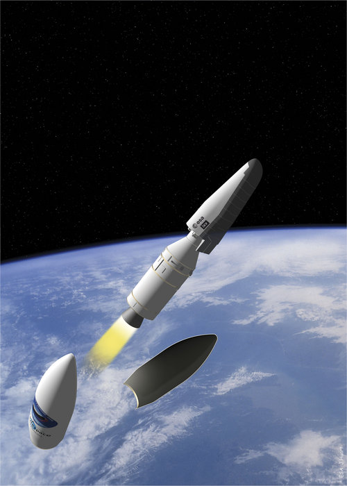 Artist's view of Intermediate eXperimental Vehicle (IXV).