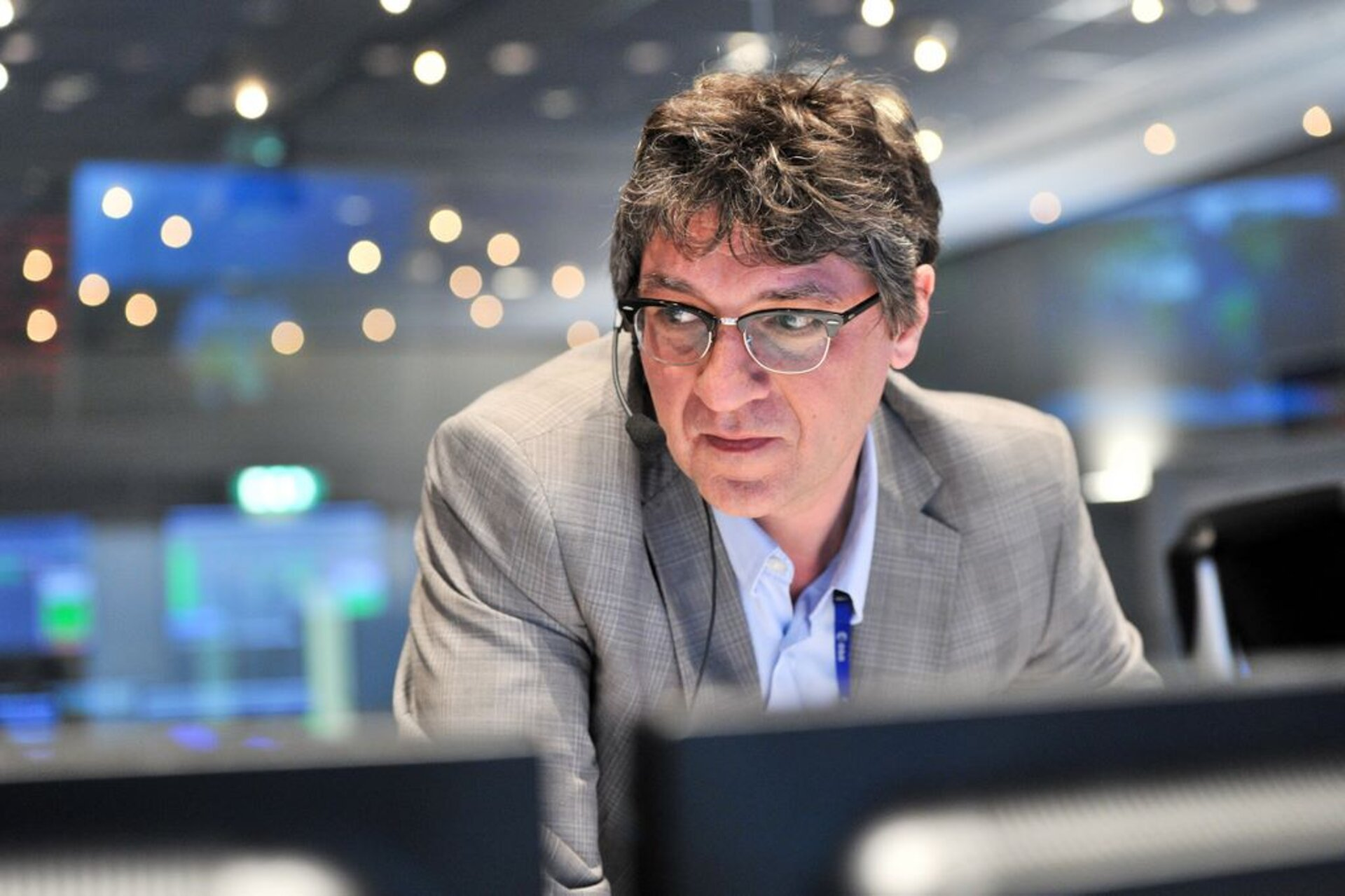 Flight Operations Director Hervé Côme at ESOC