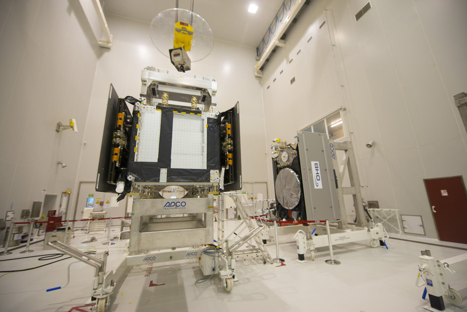 Galileo SAT 5-6 in the S5A building