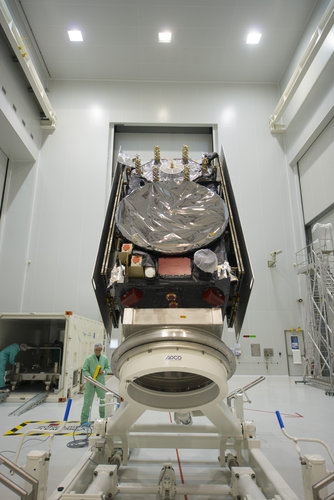 Galileo SAT 6 in the S5A building