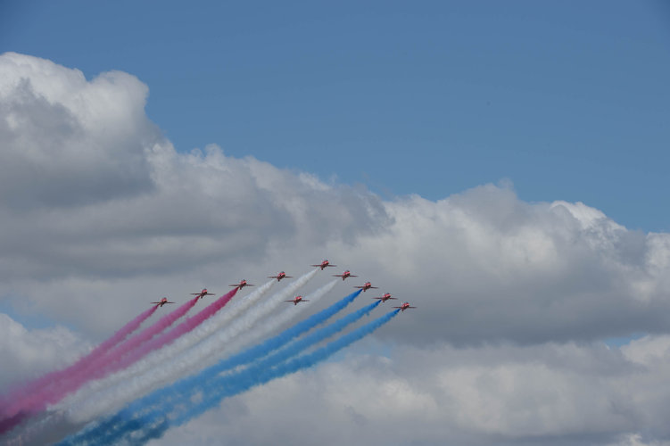 Official opening of the Farnborough International Airshow 2014