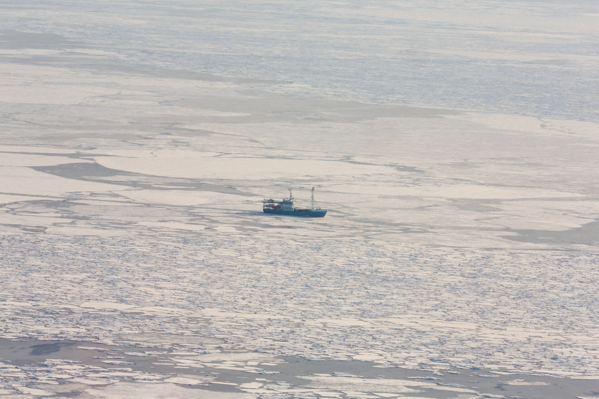 RV Lance in the Barents Sea