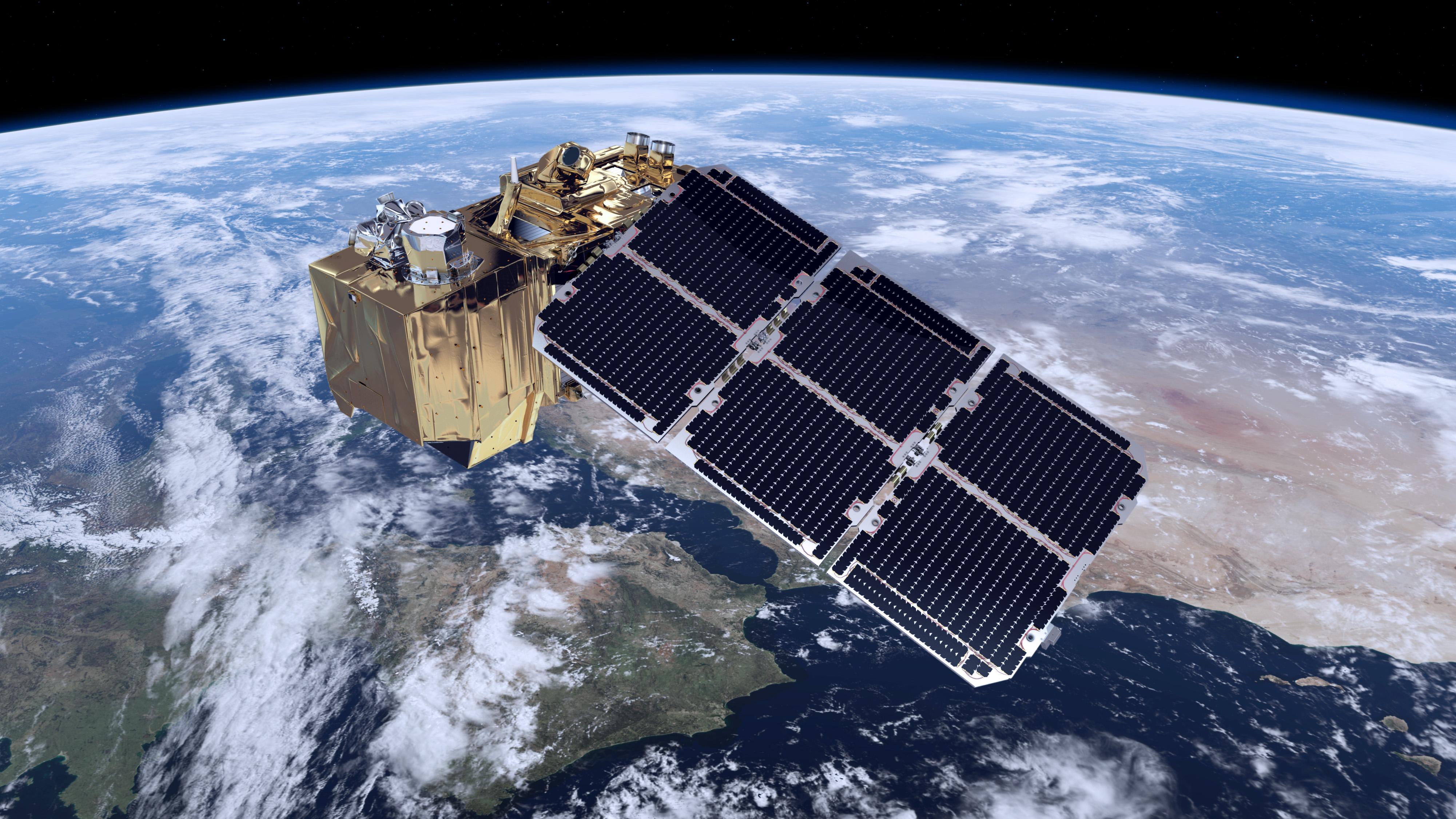 Satelita Sentinel 2 na orbicie. ESA/ATG medialab 2014