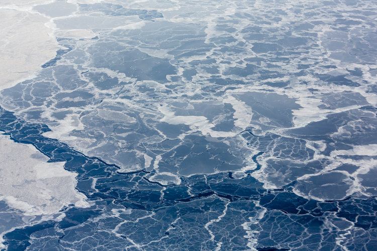 Thin sea ice