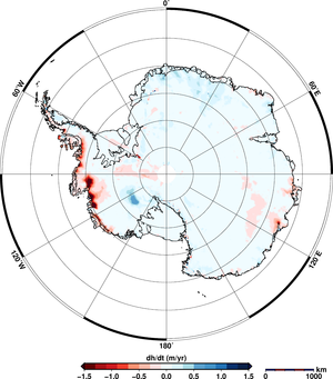 Antarctic ice-sheet change