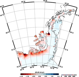 Antarctic peninsula ice-sheet change