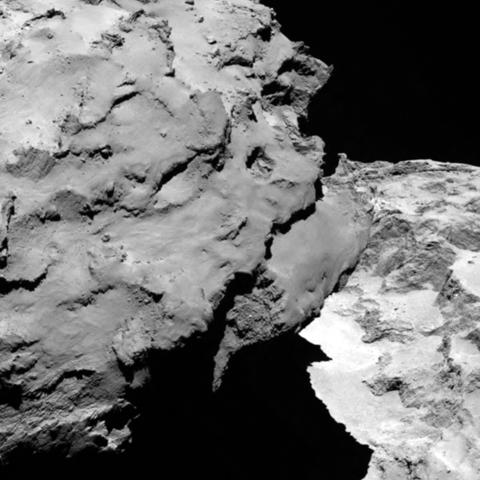Seneste closeup billede af komet 67P fra Rosetta