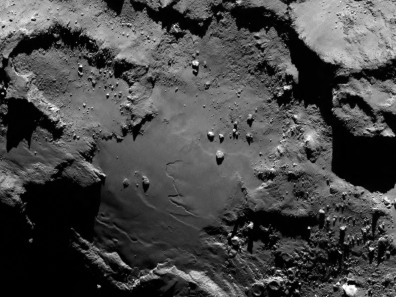 Detail from image of Comet 67P/Churyumov-Gerasimenko from Rosetta