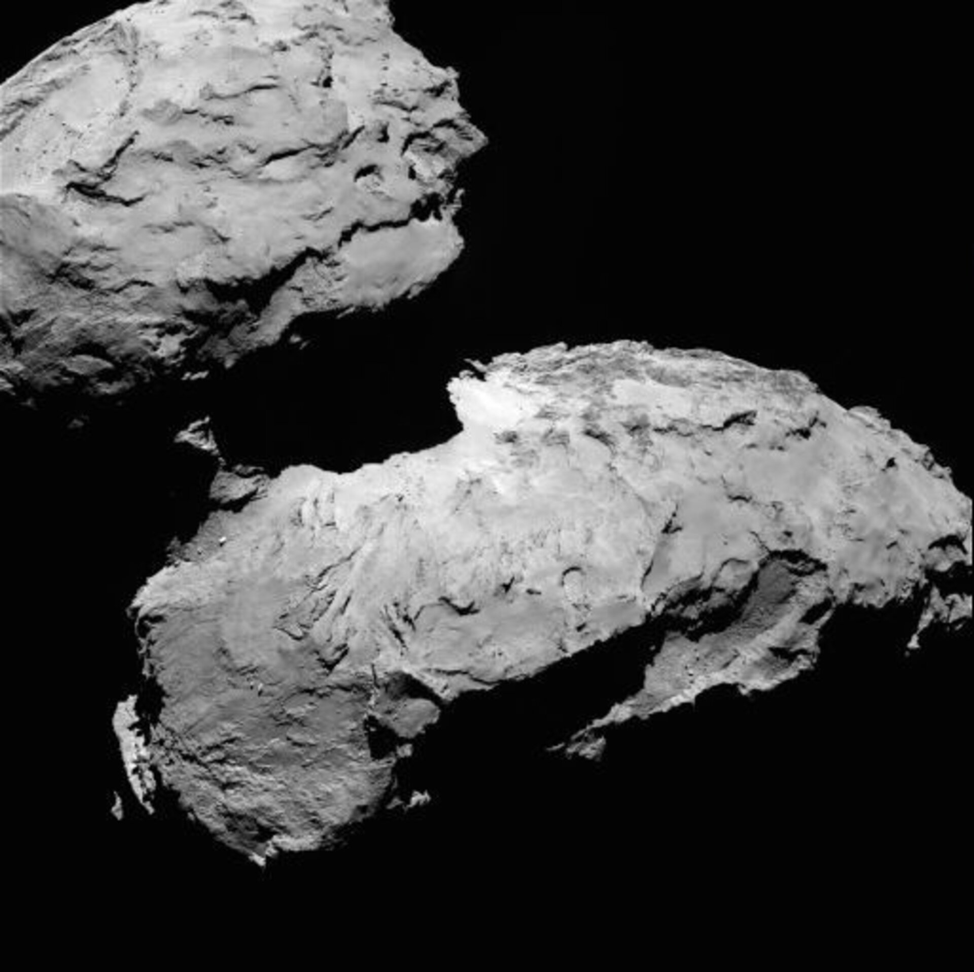 Rosetta's OSIRIS picture of Comet 67P from about 100km