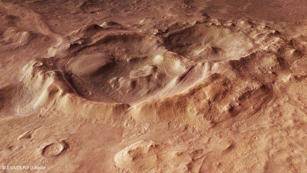 Cráteres en Hellas Basin