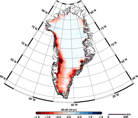 Greenland ice-sheet change
