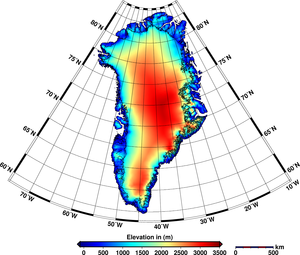 Greenland ice-sheet height