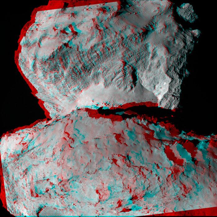 comète 67P en 3D