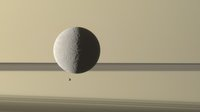 Saturn's moon Rhea, Epimetheus transiting