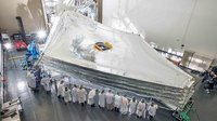 James Webb Space Telescope's Giant Sunshield Test Unit Unfurled
