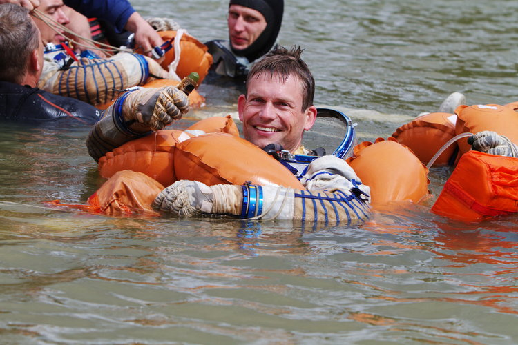 Andreas Mogensen during survival training