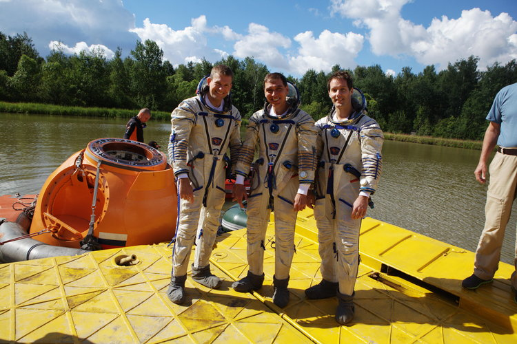 Andreas, Sergei and Thomas during survival training