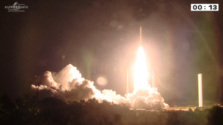 Ariane 5 liftoff on flight VA218