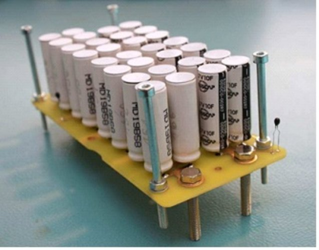 Bank of supercapacitors
