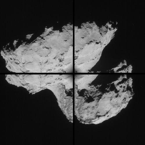 Comet on 31 August 2014 – NavCam montage