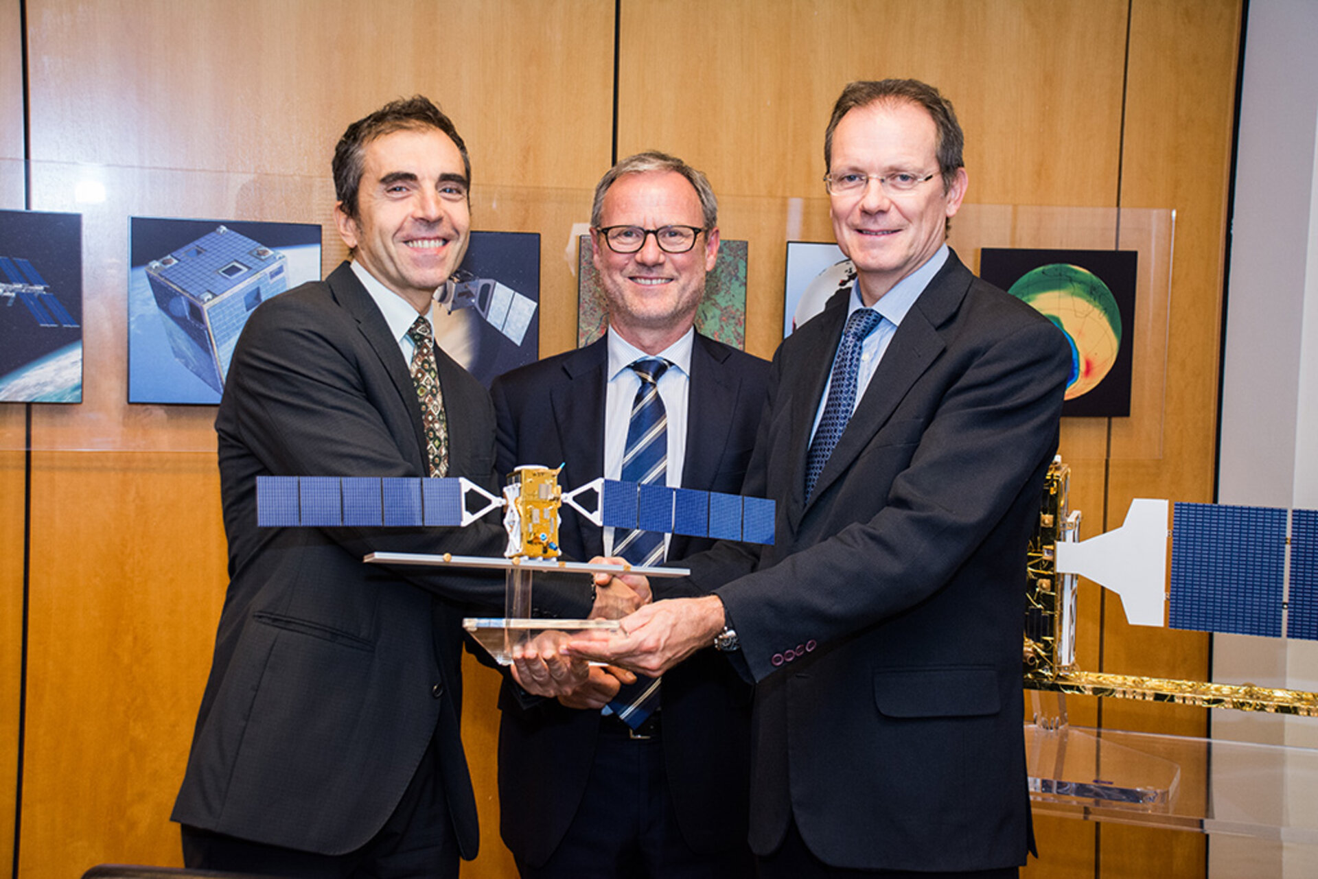 Handing over Sentinel-1A