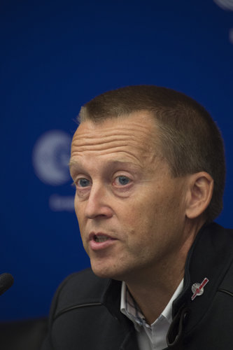 Holger Sierks during the announcement of the selected Rosetta landing site