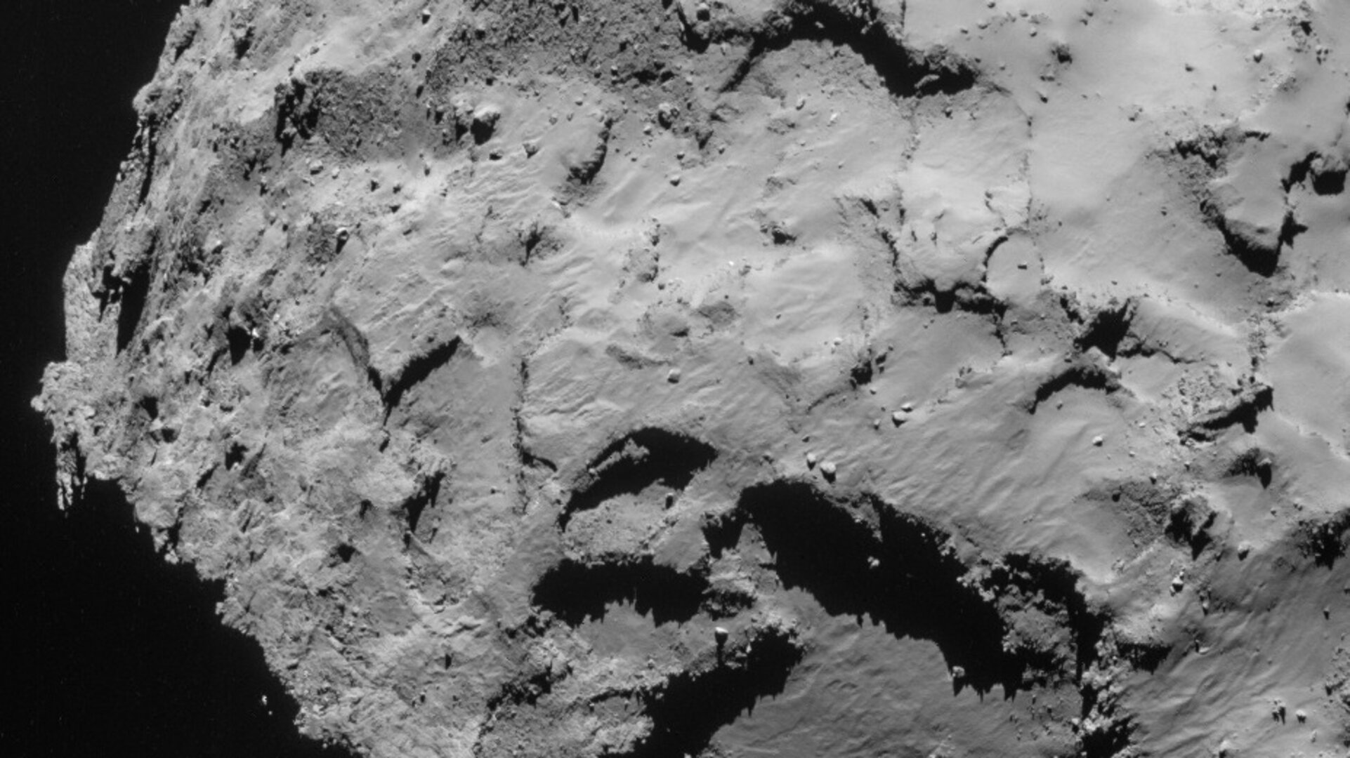 Landing site J in Rosetta's NavCam – 21 September