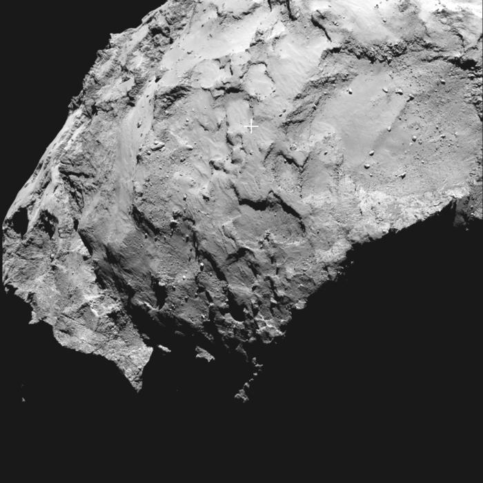 Philae lander primary landing site on comet 67P/C-G