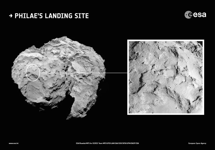 Philae's primary landing site in context