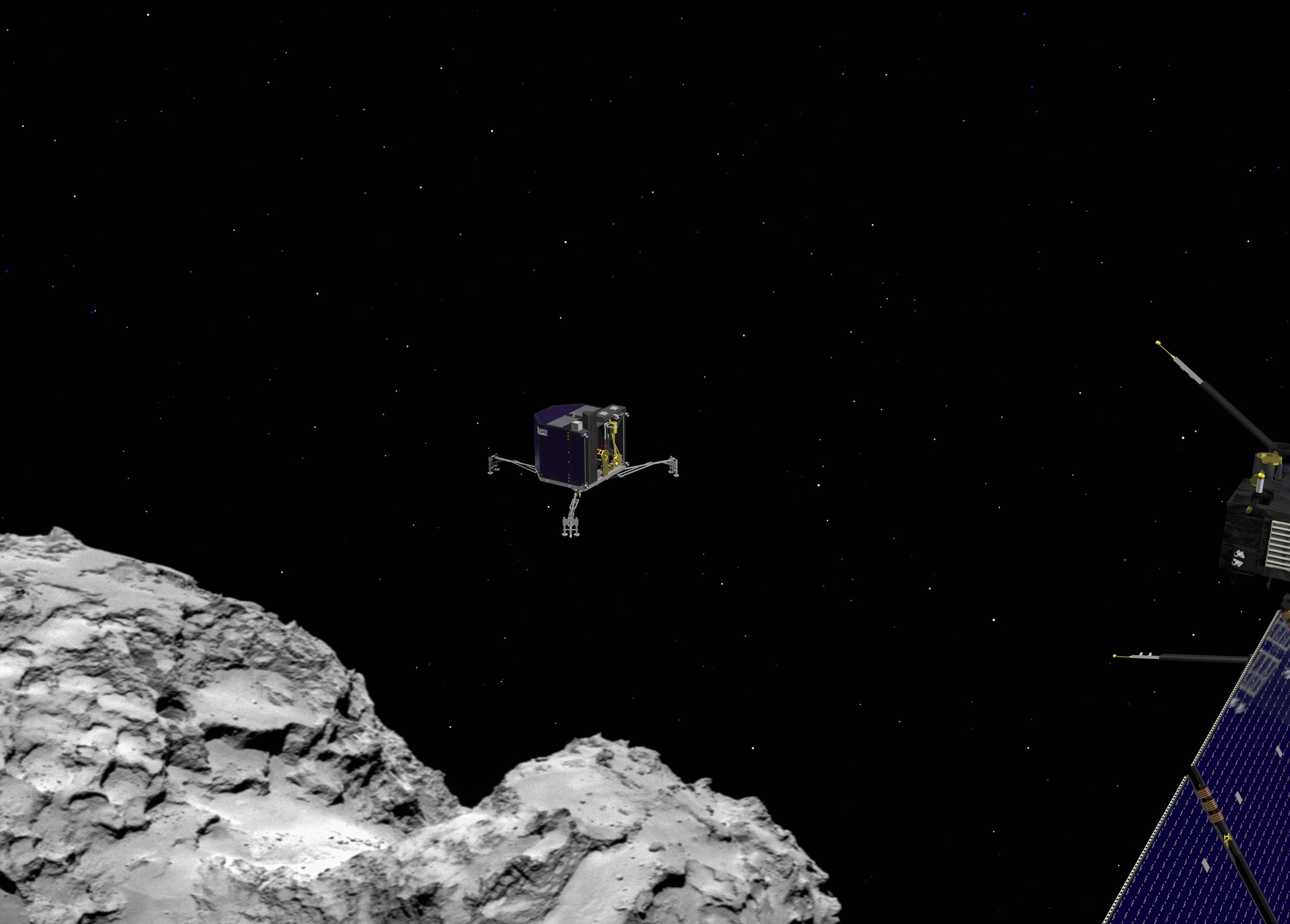 philae found! rosetta space science our activities esa - HD 3543×2539