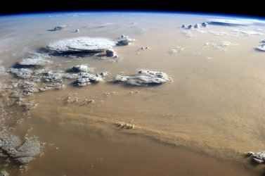 Sandstorm over the Sahara
