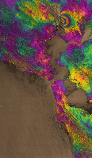 Sentinel-1 maps earthquake