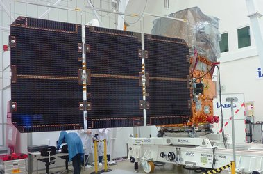 Sentinel-2A with solar wing